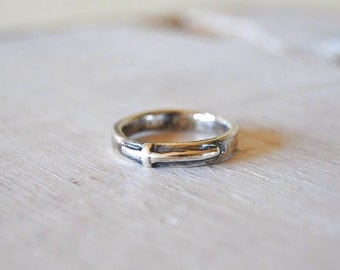 Cross Ring, stackable, Sterling Silver, Western, Cowgirl