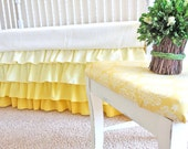 Yellow Fading Ruffle Skirt
