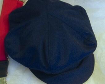 Admiral Navy Blue Newsboy hat, newspaper boy hat, midnight blue color  boy hat, beret for boys