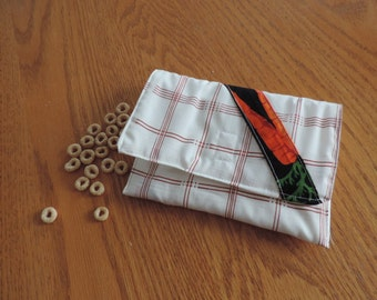 snack bag with vegetables fabric  reusable fruit or vegetable bag