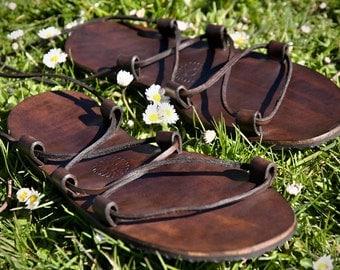 "Flexible Zero Drop Leather Sandals - ""FLEXI"""