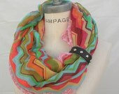 Women Scarf, chevron print, rainbow scarf, Cuff Bracelet Scarf , summer Lightweight Scarf ,bridesmaid Gift under 20 - By PiYOYO