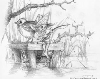 Original Art: A Most Terrible Fishing Companion