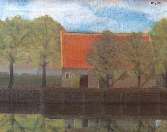 Oil painting. Rob Jurrissen Dutch artist.