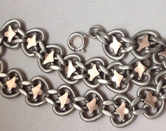 Antique French Victorian Silver Charm Bracelet
