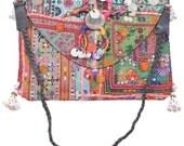 Big Vintage Banjara Clutch Bag Hobo Tote Ethnic Tribal Gypsy India ID13461