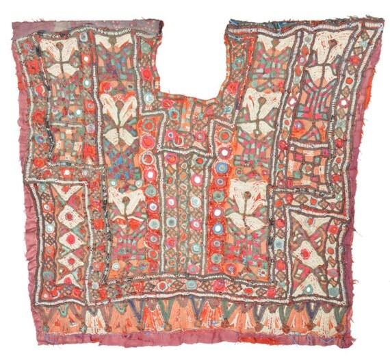 Vintage banjara neck yoke hand embroidered by banjaratribalart