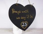 Engagement Gift Wedding Countdown Chalkboard Sign Countdown to Your Big Day Engagement Gift Photo Prop