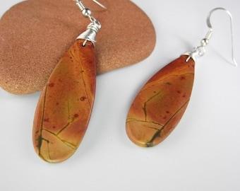 Long Jasper Earrings, Red Creek Jasper Jewelry, Genuine Jasper, Cherry Creek Jasper, Picasso Jasper, Sonoran Desert, Mystical Moon Designs