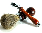 Cocobolo Shaving Set with Chrome Finish and Choice of Shaving Soap