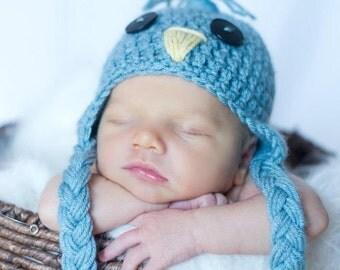 Newborn Spring Props, Baby Bird Hat, Newborn Bird Hat, Spring Photography Props, Baby Animal Hats, Spring Photo Props, Crochet Bird Hat