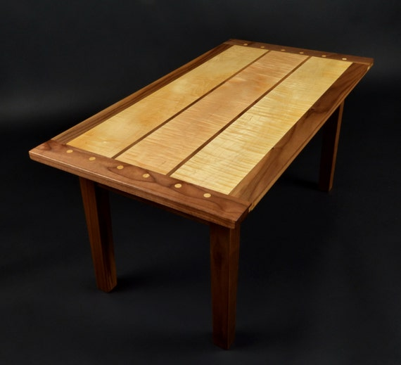 Items Similar To Curly Maple And Black Walnut Coffee Table On Etsy