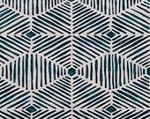 "TWO Curtain Panels, 25"" WIDE x 63"", 84"", 96"", 108"", 120"" - Choose: Navy/White ,Grey/White, Ecru/Cream, Green/White, OR Dark Grey/Cream"