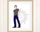 Sam Winchester Print, Supernatural Print, Digital Illustration, Poster, Art Print, Illustration, Original Artwork, Fanart