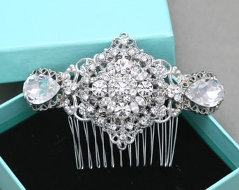 Oval Comb,Romantic Vintage Style Hair Comb, Rhinestone Crystals Hair Comb, Bridal Hair Comb, Wedding Hair Comb, Wedding Hair Accessories