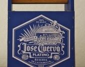 Organizer, desk accessories,wooden tool box,altered Tequila box.
