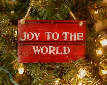 Joy to the World Christmas Sign - Rustic Christmas Sign