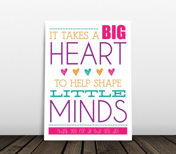 Tactueux image with it takes a big heart to shape little minds printable