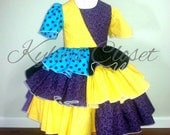Over the Top, OTT Nightmare Before Christmas - Sally-inspired Dress - Costume - Movie - Ruffle Dress - Boutique-style - Gift - Birthday