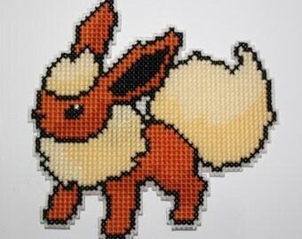 Cross stitch Flareon Pokemon magnet