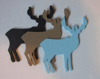 10 Buck die cuts, large paper Bucks, Buck embellishments, Buck gift tags, Elk die cuts