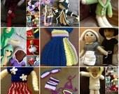 E-book Crochet dress-up doll