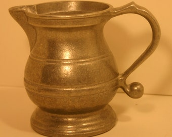 RWP USA Pewter Style Pitcher Armetale®, Made in USA Creamer Pitcher Vintage Kitchen Serving
