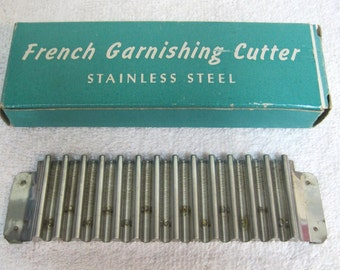 Older French Garnishing Cutter Tool Stainless Steel MIB Looks Never Used T1
