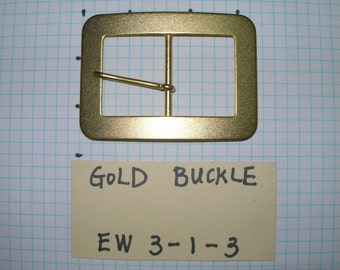 "Metal Gold color belt buckle with classic simple style 2 1/2"" high 3 5/8""wide"