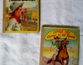Vintage Books Nevada Jones Trouble Shooter and Little Tex Comes to XY Ranch 1949 Swap It Books Retro Childrens Books