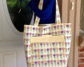 Reversible Market Bag, Project Tote Bag, Shopping Bag, Grocery Bag, Bag with Lining