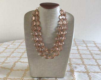 Champagne Gem Statement Necklace