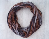Fall Colors - Infinity Scarf - Loop Scarf - Circle Scarf - Cowl Scarf - Chunky