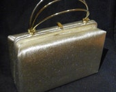 Vintage 1950's Gold Box Ladies Evening Purse With Coin Purse Attached/Formal/Party