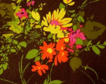 Vintage Fabric Floral Garden Print