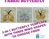 Butterfly pattern, butterfly hair, wedding butterfly, buterfly, fabric butterfly template, lace butterfly