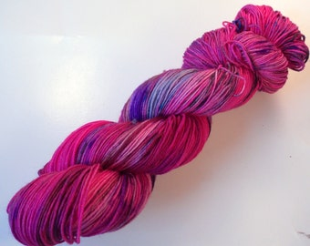 Pink confusion on Lolo 75/25 SW Merino Nylon Hand dyed fingering weight sock yarn