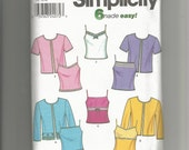 Simplicity pattern 9264 Misses Cardigan and Top Size 14, 16, 18, 20