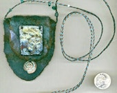 Spirit of the Sea — hand-felted amulet bag