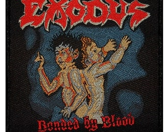 "Band ""Exodus Bonded By Blood"" Album Art Thrash Metal Music Sew On Applique Patch"