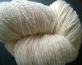 Handspun Yarn: 2 Ply Heavy Worsted in Natural Off White