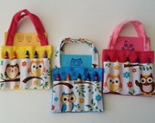 Owl Children's Crayon Bag and Customized Paper, Birthday Party Favor