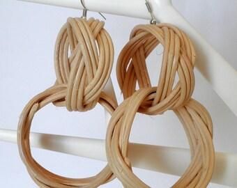 Earrings Braided double