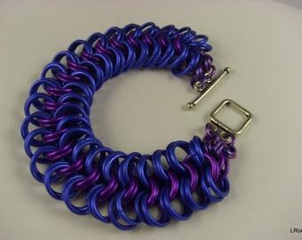 Kings Mail circles of royal plum bracelet