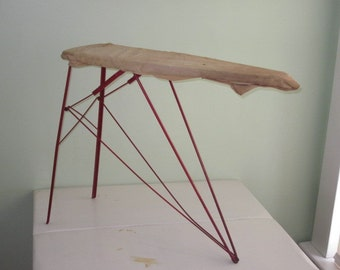 Vintage Red Wire Metal Child's Size Ironing Board