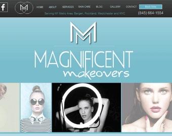 Website, beauty, hair, waxing, spa website design, Mobile Compatible, Custom website Design Package