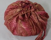 Beautiful OOAK Pink and Gold Placenta Bag