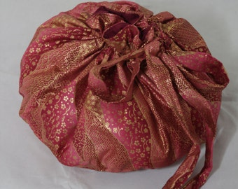 Beautiful OOAK Pink and Gold Placenta Bag