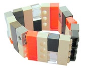 Rave PLUR Neon bracelet - made from LEGO (R) bricks on stretchy cords