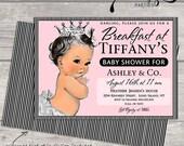 breakfast at tiffany's invitation invite TIFFANY AND CO. Posh 1st birthday party tiffany blue